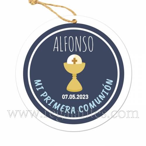 Etiqueta Comunión Personalizada Niño Alonso - Pegatinas Y Etiquetas Personalizadas Comunión