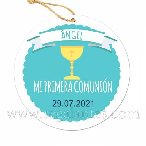 Etiqueta Comunión Personalizada Niño Ángel - Pegatinas Y Etiquetas Personalizadas Comunión