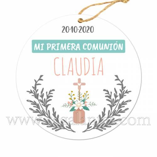 Etiqueta Comunión Personalizada Niña Niño Claudia - Pegatinas Y Etiquetas Personalizadas Comunión