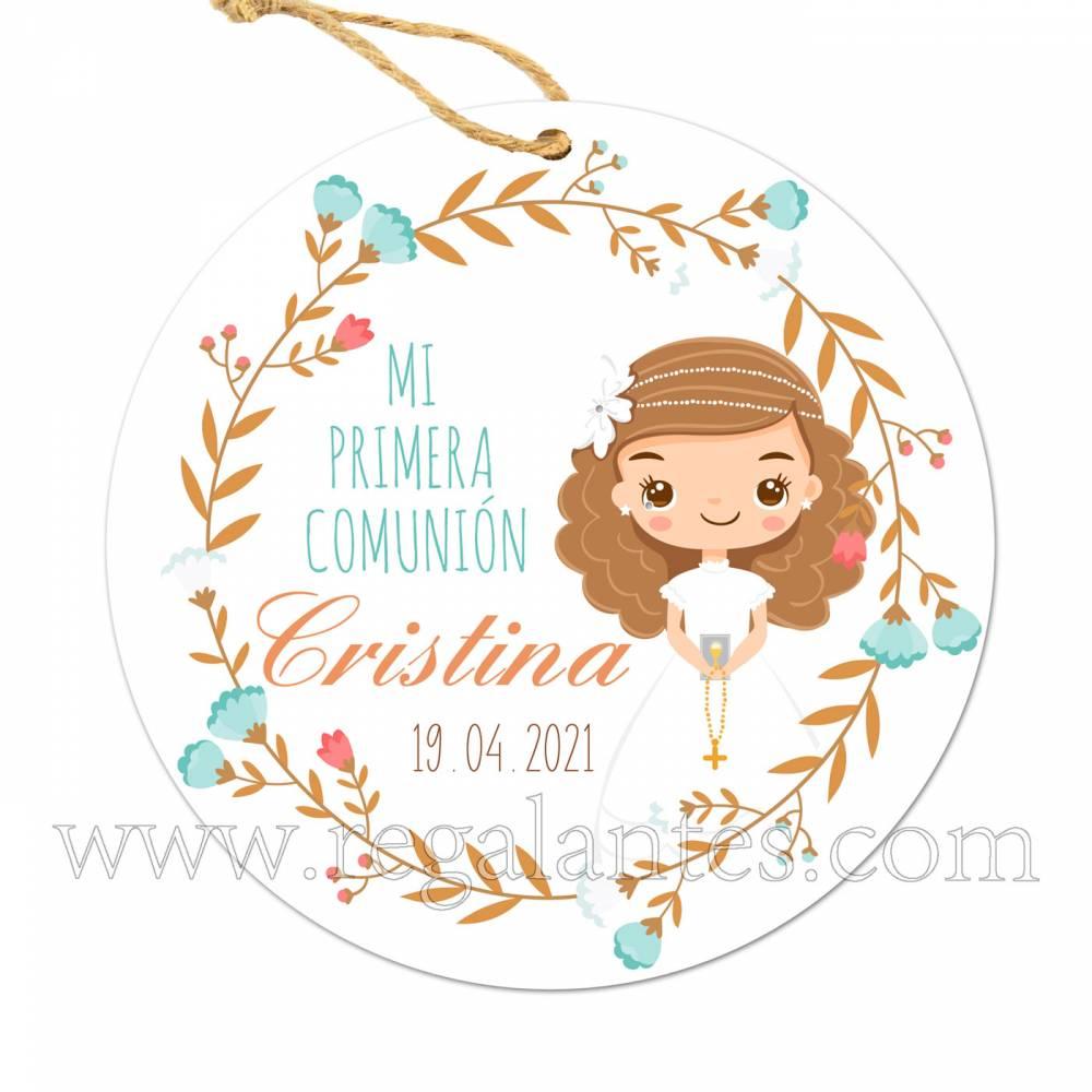 Etiqueta Comunión Personalizada Niña Cristina - Pegatinas Y Etiquetas Personalizadas Comunión