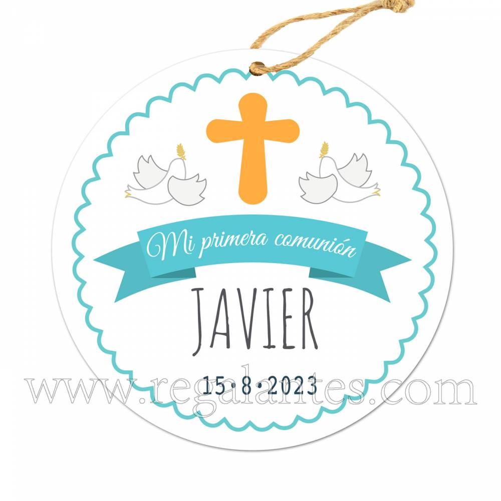 Etiqueta Comunión Personalizada Niño Javi - Pegatinas Y Etiquetas Personalizadas Comunión