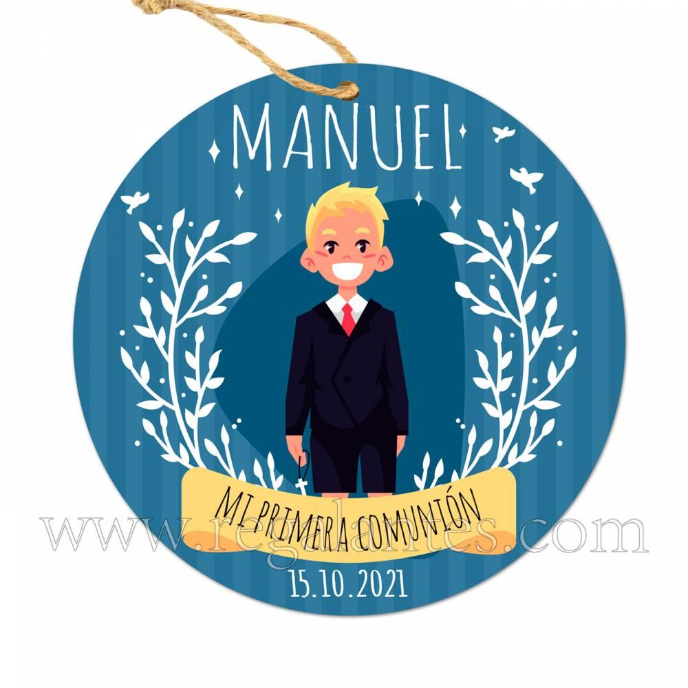 Etiqueta Comunión Personalizada Niño Manuel - Pegatinas Y Etiquetas Personalizadas Comunión