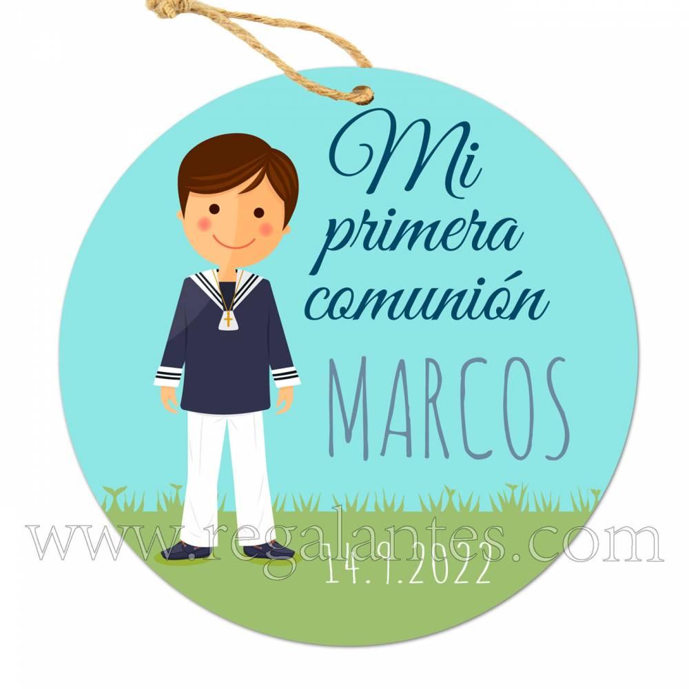 Etiqueta Comunión Personalizada Niño Marcos - Pegatinas Y Etiquetas Personalizadas Comunión