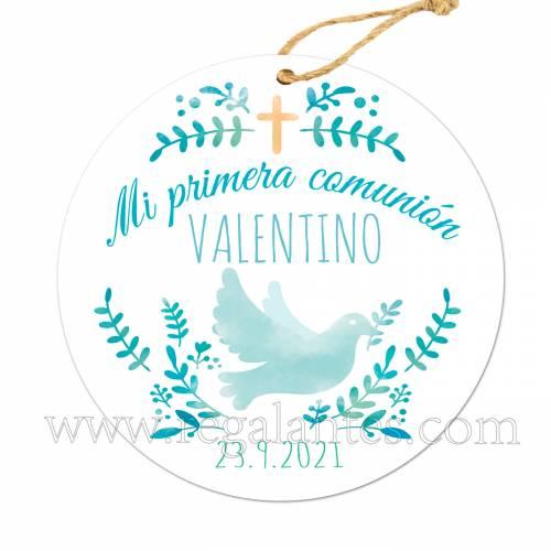 Etiqueta Comunión Personalizada Niño Valentino - Pegatinas Y Etiquetas Personalizadas Comunión