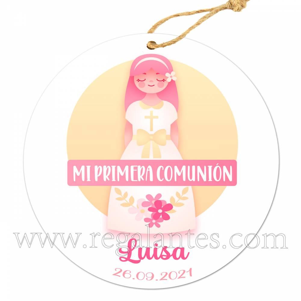 Etiqueta Comunión Personalizada Niña Luisa - Pegatinas Y Etiquetas Personalizadas Comunión