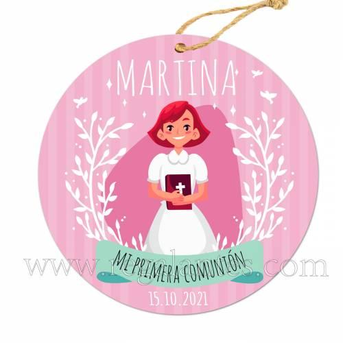 Etiqueta Comunión personalizada Niña Martina - Pegatinas Y Etiquetas Personalizadas Comunión