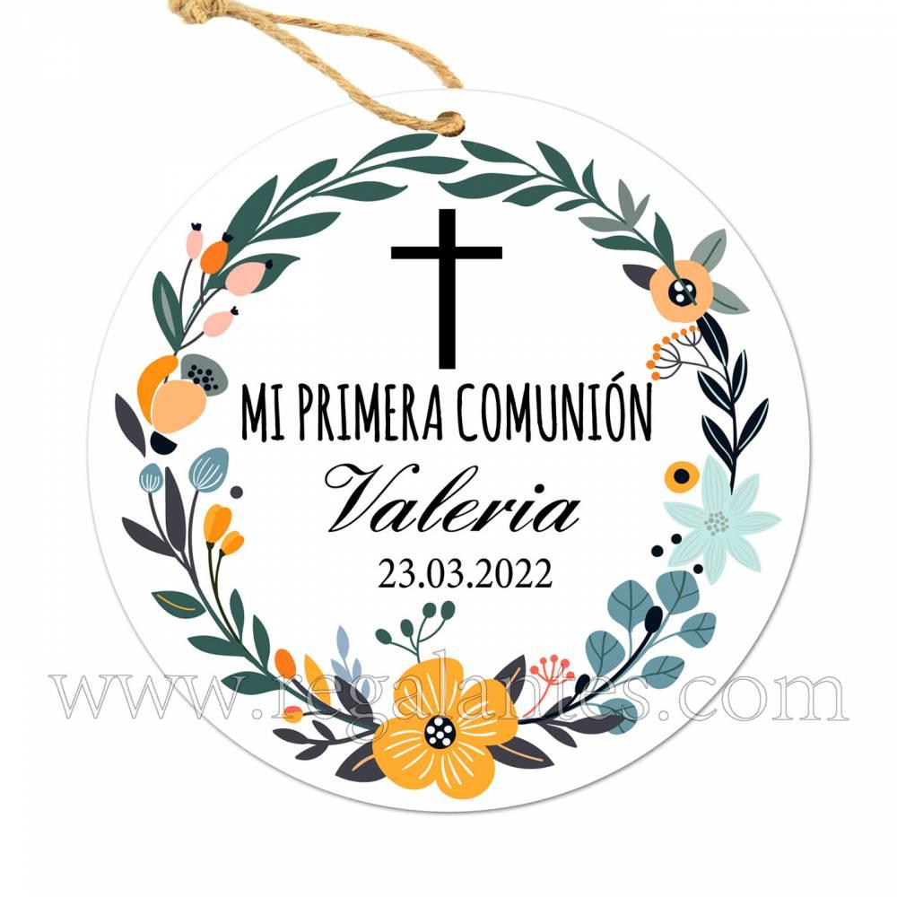 Etiqueta Comunión Personalizada Valeria - Pegatinas Y Etiquetas Personalizadas Comunión