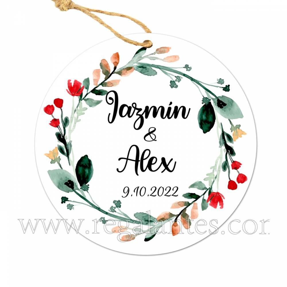 Etiqueta Boda Personalizada Ágape - Pegatinas Y Etiquetas Personalizadas boda
