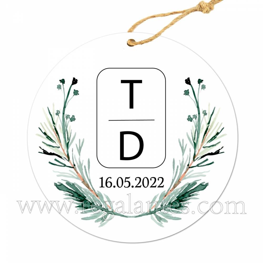 Etiqueta Boda Personalizada Calma - Pegatinas Y Etiquetas Personalizadas boda