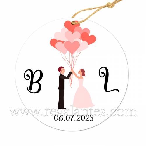 Etiqueta Boda Personalizada Cupido - Pegatinas Y Etiquetas Personalizadas boda