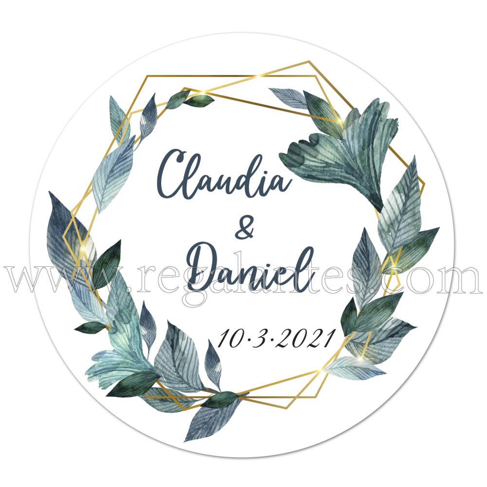Etiqueta Boda Personalizada Diana - Pegatinas Y Etiquetas Personalizadas boda