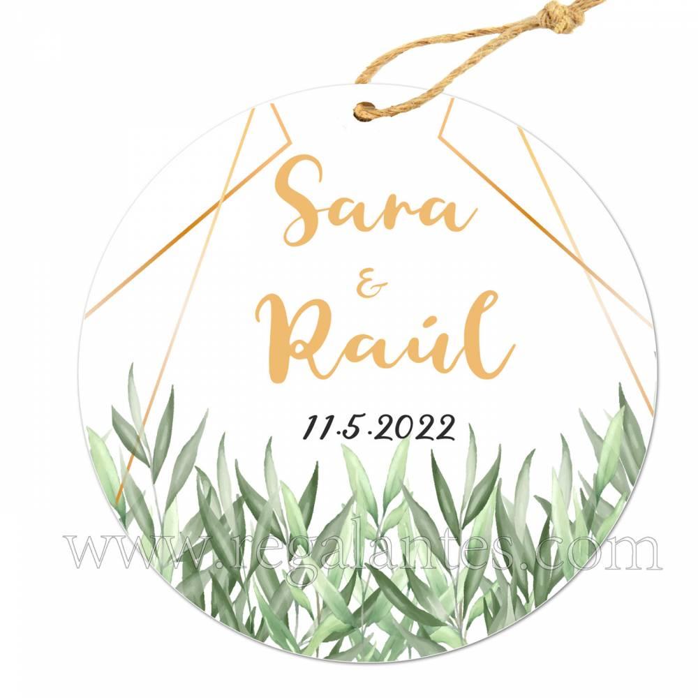 Etiqueta Boda Personalizada Garden - Pegatinas Y Etiquetas Personalizadas boda