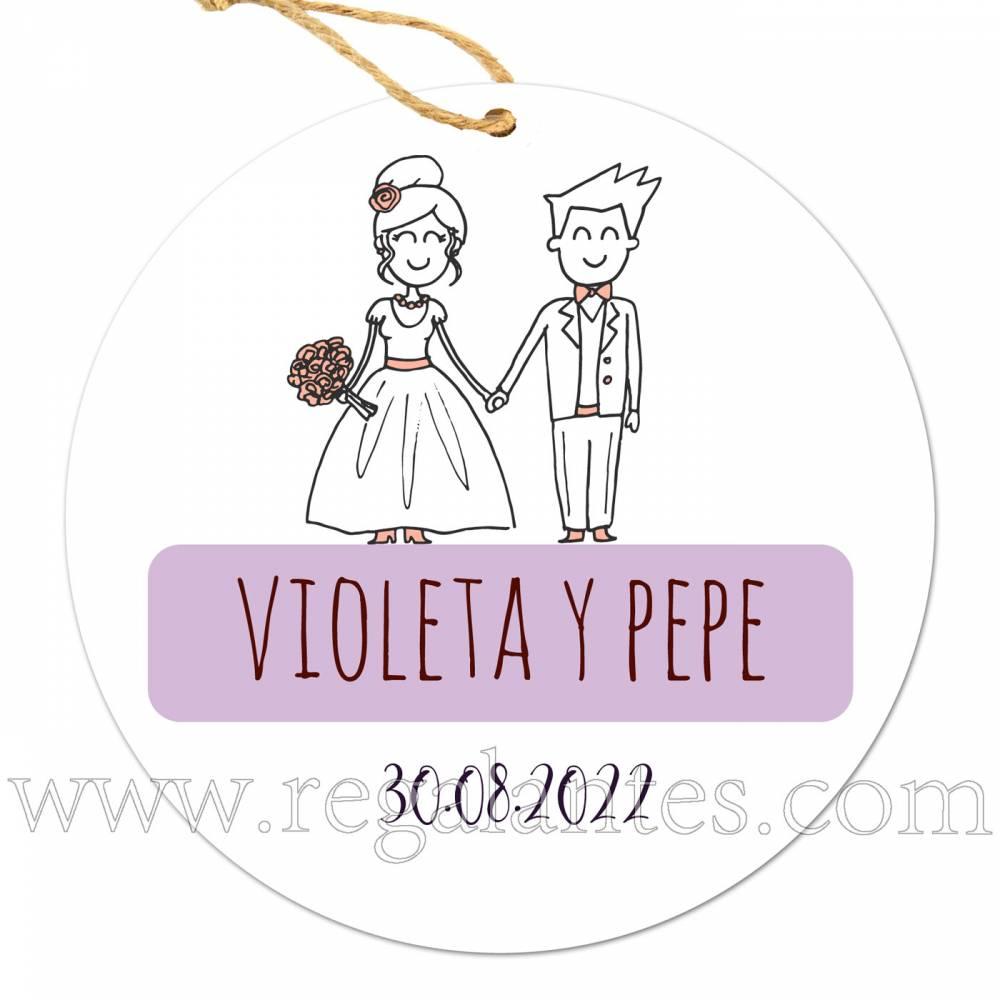 Etiquetas Boda Personalizada Kilig - Pegatinas Y Etiquetas Personalizadas boda