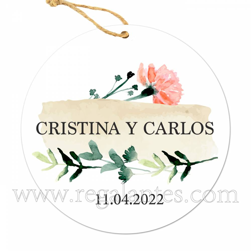 Etiqueta Boda Personalizada Luna - Pegatinas Y Etiquetas Personalizadas boda