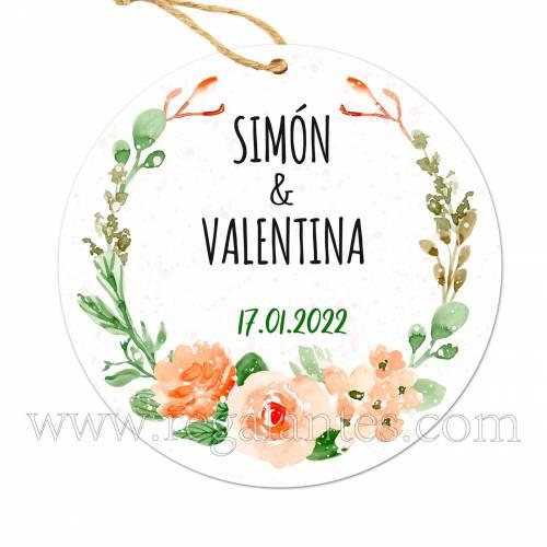 Etiqueta Boda Personalizada Macedonia - Pegatinas Y Etiquetas Personalizadas boda