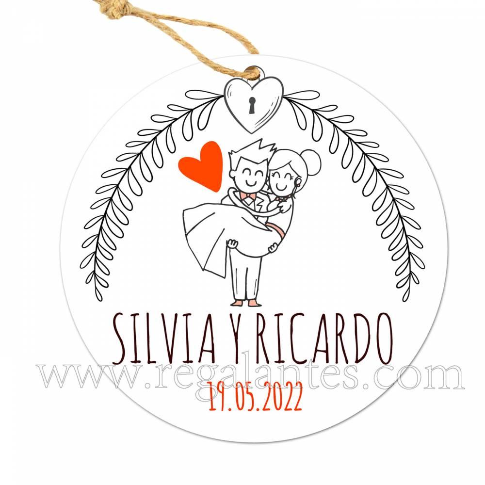 Etiqueta Boda Personalizada Mañana - Pegatinas Y Etiquetas Personalizadas boda