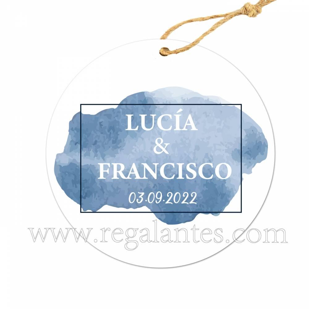 Etiqueta Boda Personalizada Narciso - Pegatinas Y Etiquetas Personalizadas boda