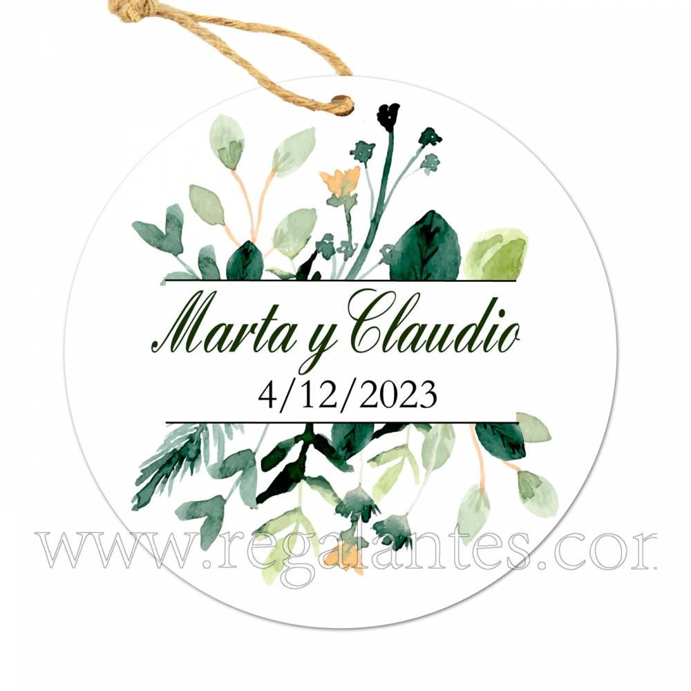 Etiqueta Boda Personalizada Nature - Pegatinas Y Etiquetas Personalizadas boda