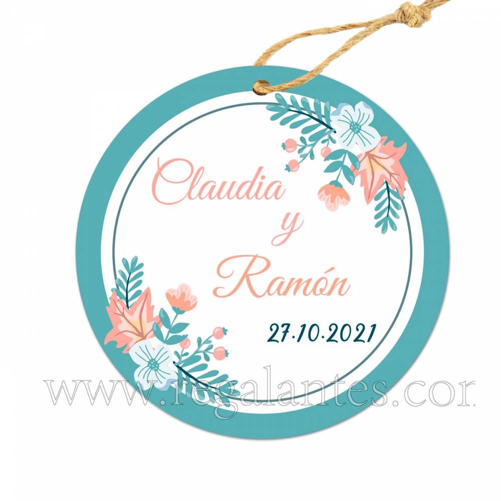 Etiqueta Boda Personalizada Ocean - Pegatinas Y Etiquetas Personalizadas boda