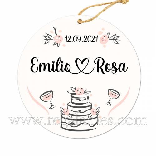Etiqueta Boda Personalizada Pastel - Pegatinas Y Etiquetas Personalizadas boda
