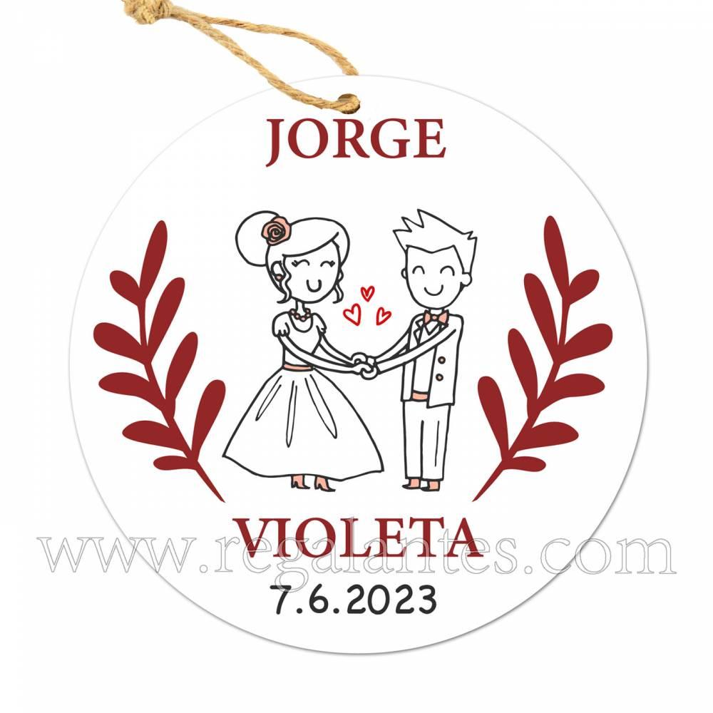 Etiqueta Boda Personalizada Piscis - Pegatinas Y Etiquetas Personalizadas boda