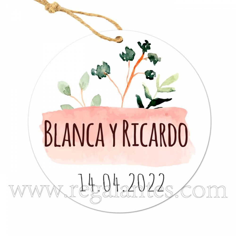 Etiqueta Boda Personalizada Prado - Pegatinas Y Etiquetas Personalizadas boda