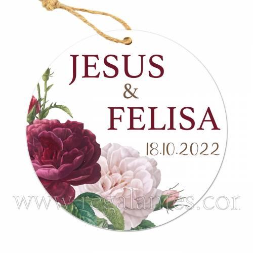 Etiqueta Boda Personalizada Rosal - Pegatinas Y Etiquetas Personalizadas boda