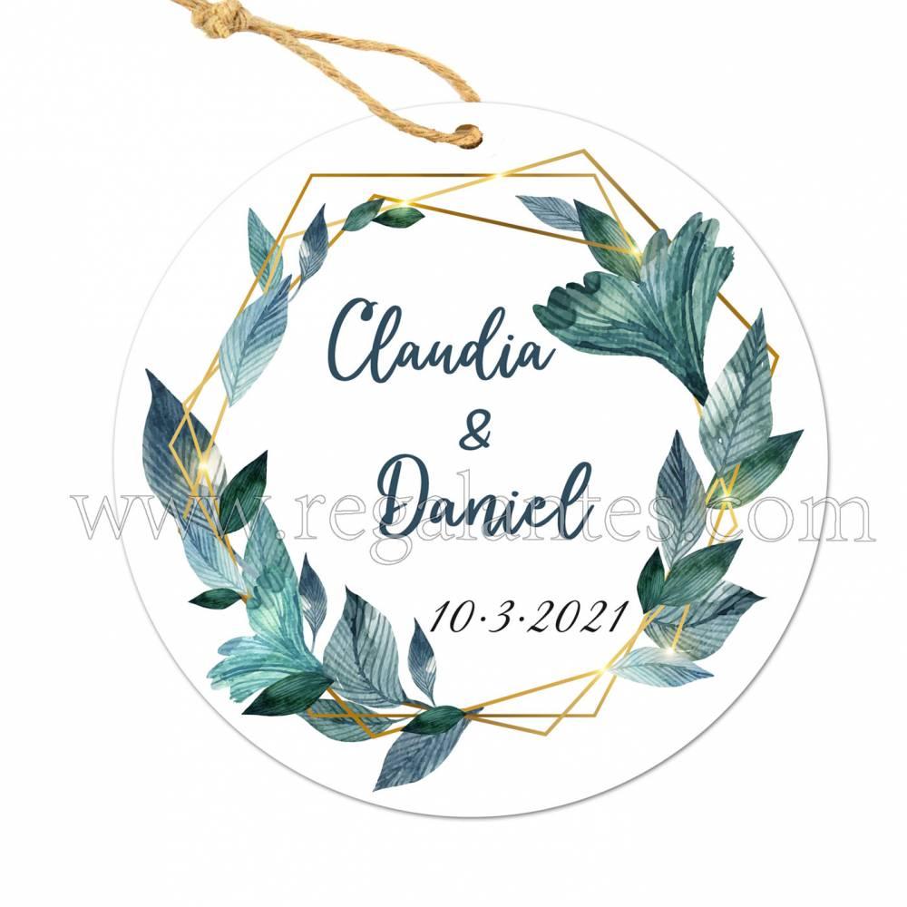 Etiqueta Boda Personalizada Selva - Pegatinas Y Etiquetas Personalizadas boda