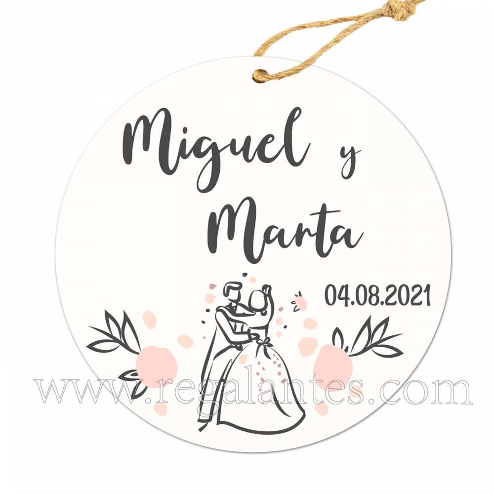 Etiqueta Boda Personalizada Juntos - Pegatinas Y Etiquetas Personalizadas boda