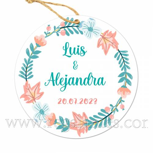 Etiqueta Boda Personalizada Summer - Pegatinas Y Etiquetas Personalizadas boda