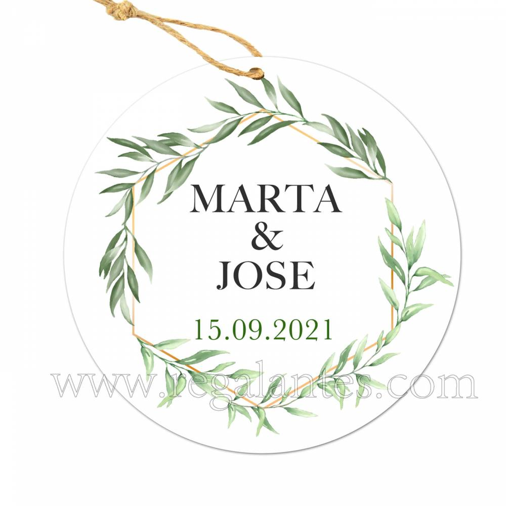 Etiqueta Boda Personalizada Sun - Pegatinas Y Etiquetas Personalizadas boda