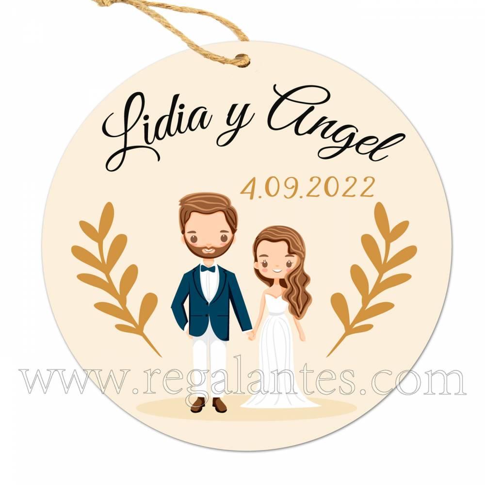 Etiqueta Boda Personalizada Trigo - Pegatinas Y Etiquetas Personalizadas boda