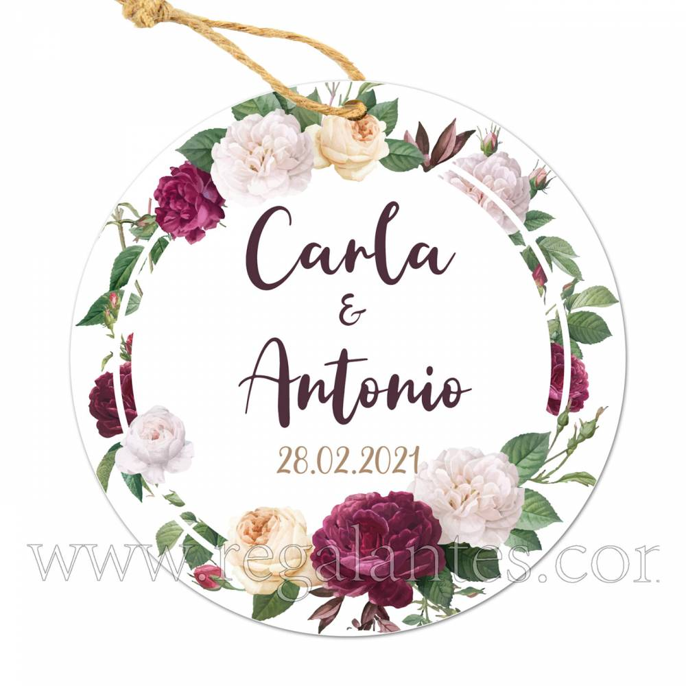 Etiqueta Boda Personalizada Violet - Pegatinas Y Etiquetas Personalizadas boda
