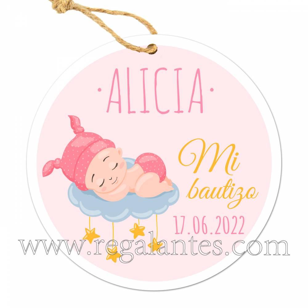 Etiquetas Bautizo Personalizada Dreams - Pegatinas Y Etiquetas Personalizadas boda