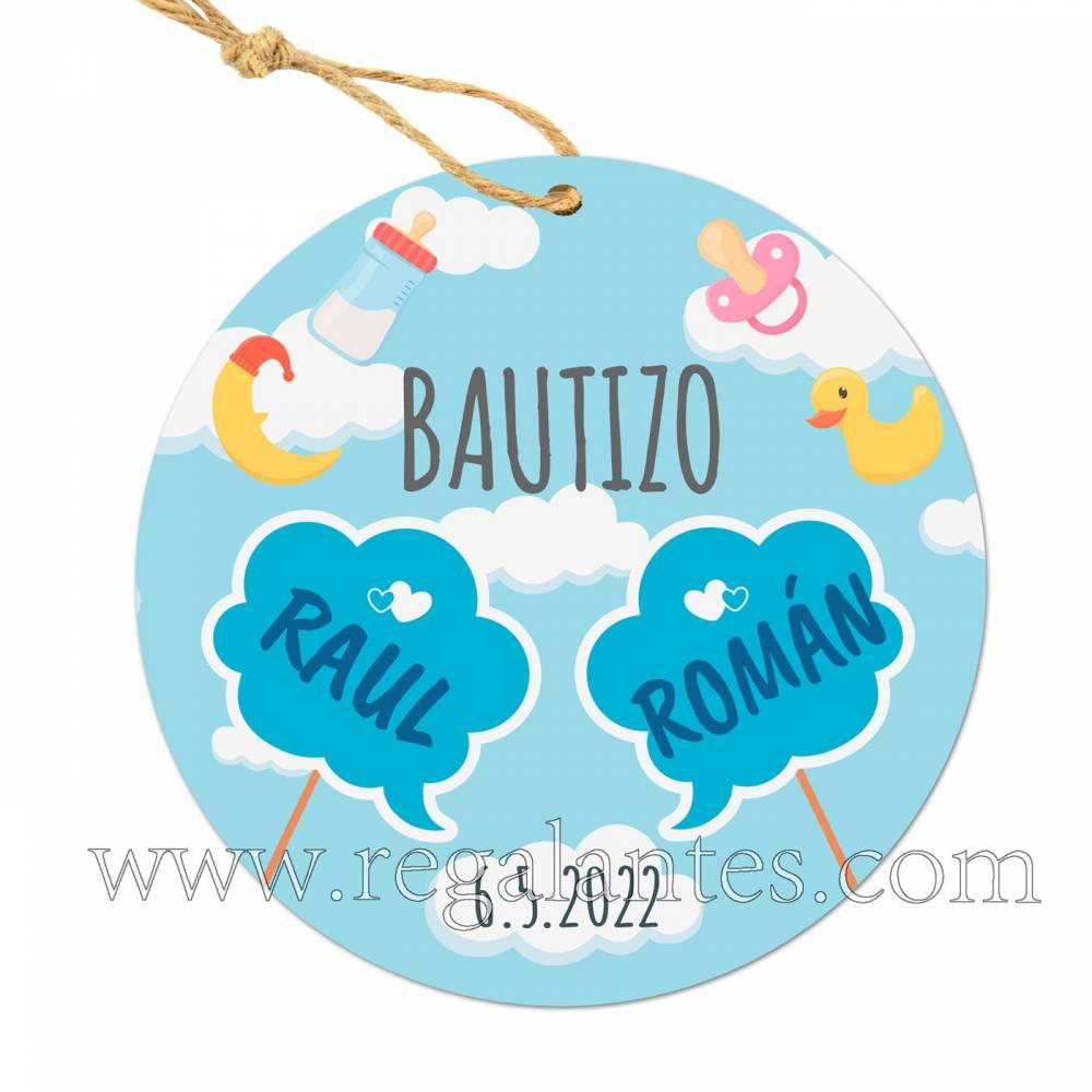 Etiquetas Bautizo Personalizada Gemelos - Pegatinas Y Etiquetas Personalizadas boda