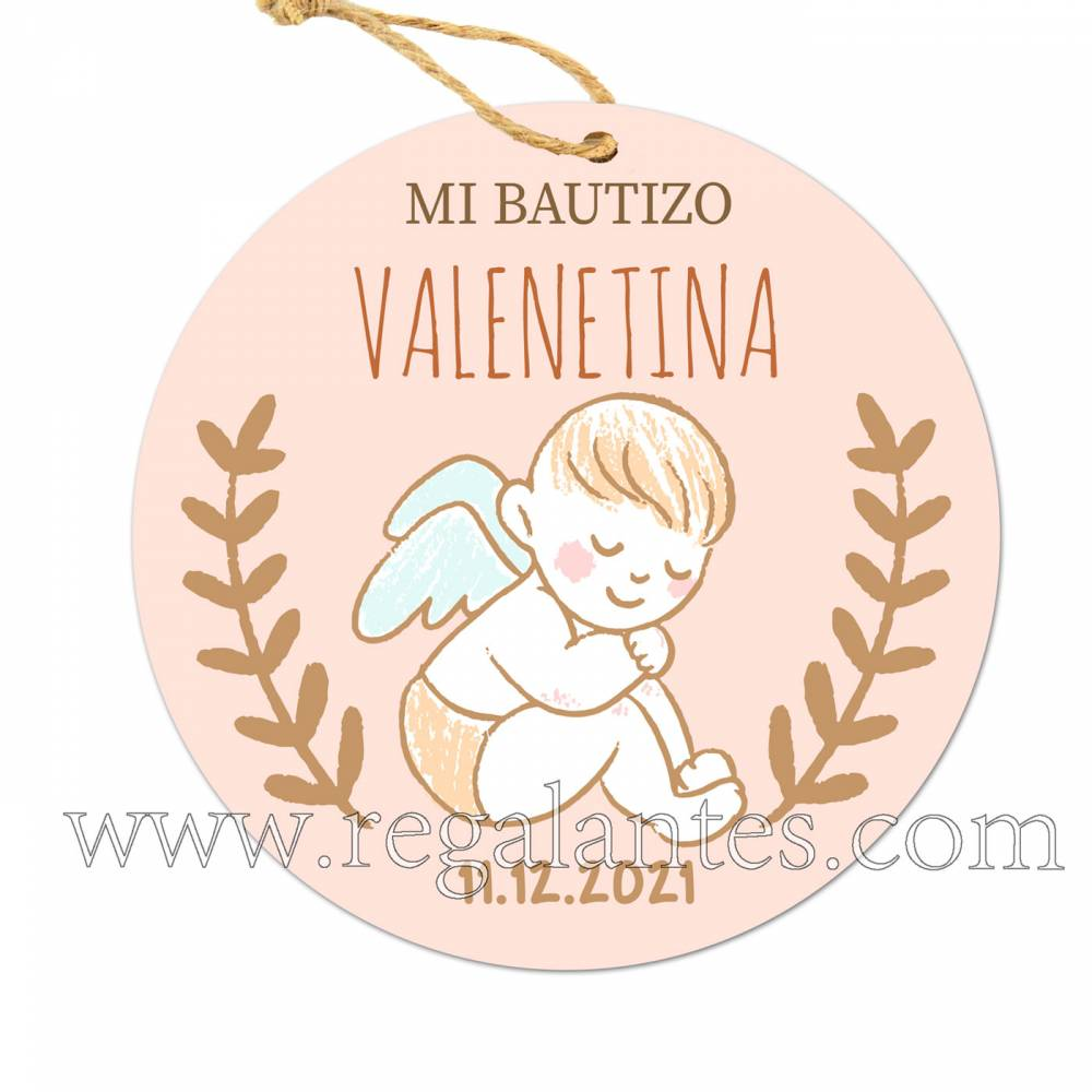 Etiqueta Bautizo Personalizada Niño Niña Ángel - Pegatinas Y Etiquetas Personalizadas boda