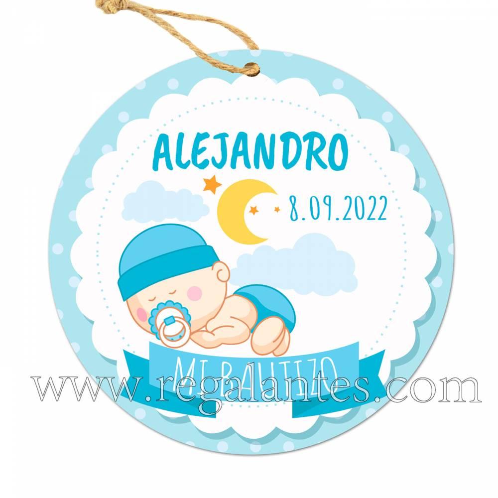 Etiqueta Bautizo Personalizada Niño Dulces Sueños - Pegatinas Y Etiquetas Personalizadas boda