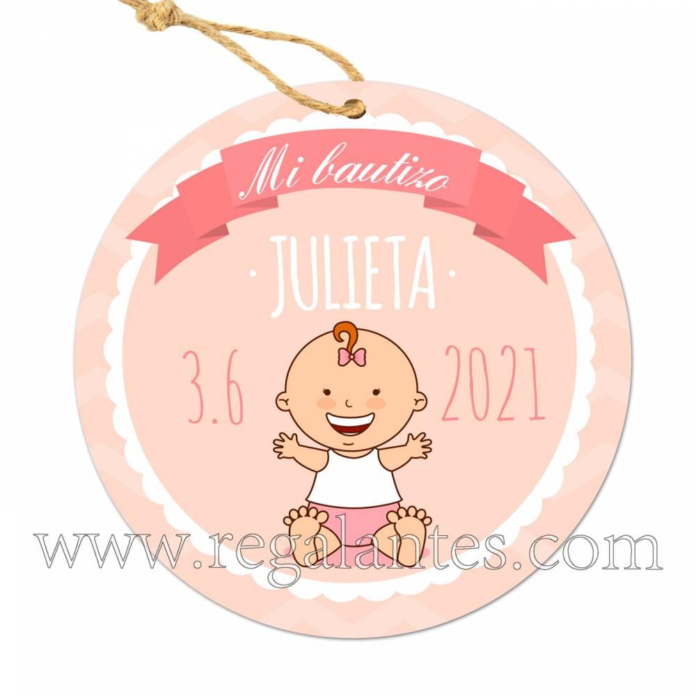 Etiqueta Bautizo Personalizada Niña Galleta - Pegatinas Y Etiquetas Personalizadas Bautizo