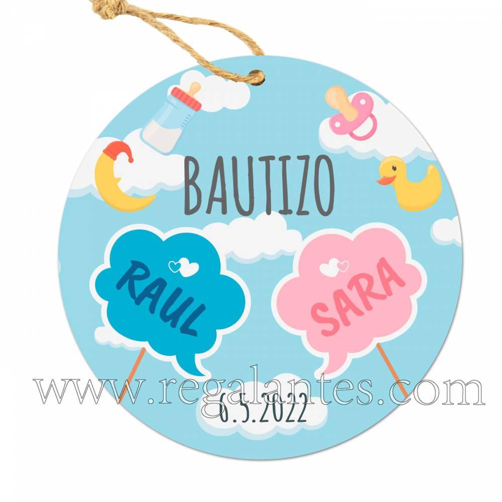 Etiqueta Bautizo Personalizada Niño Niña Melli - Pegatinas Y Etiquetas Personalizadas Bautizo