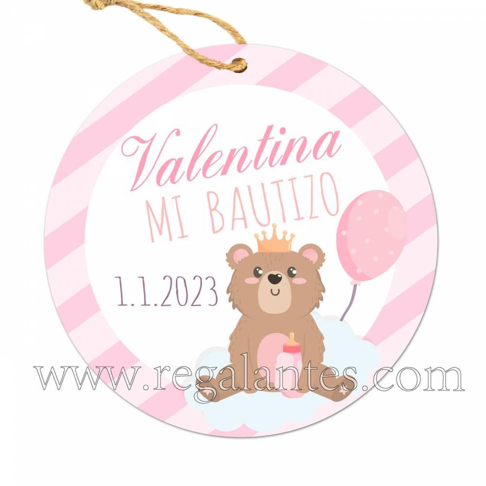 Etiqueta Bautizo Personalizada Niña Valentina - Pegatinas Y Etiquetas Personalizadas Bautizo