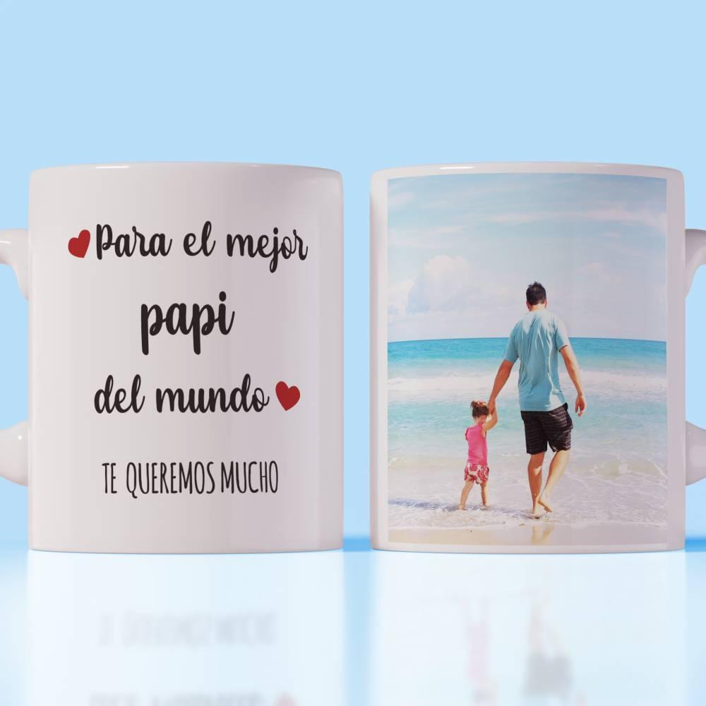 Taza Personalizada Día Del Padre Foto y Frase - Personalizables