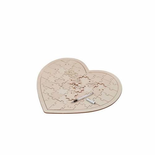 Puzzle Firmas Corazón Invitados Boda - Libros De Firmas Para Bodas