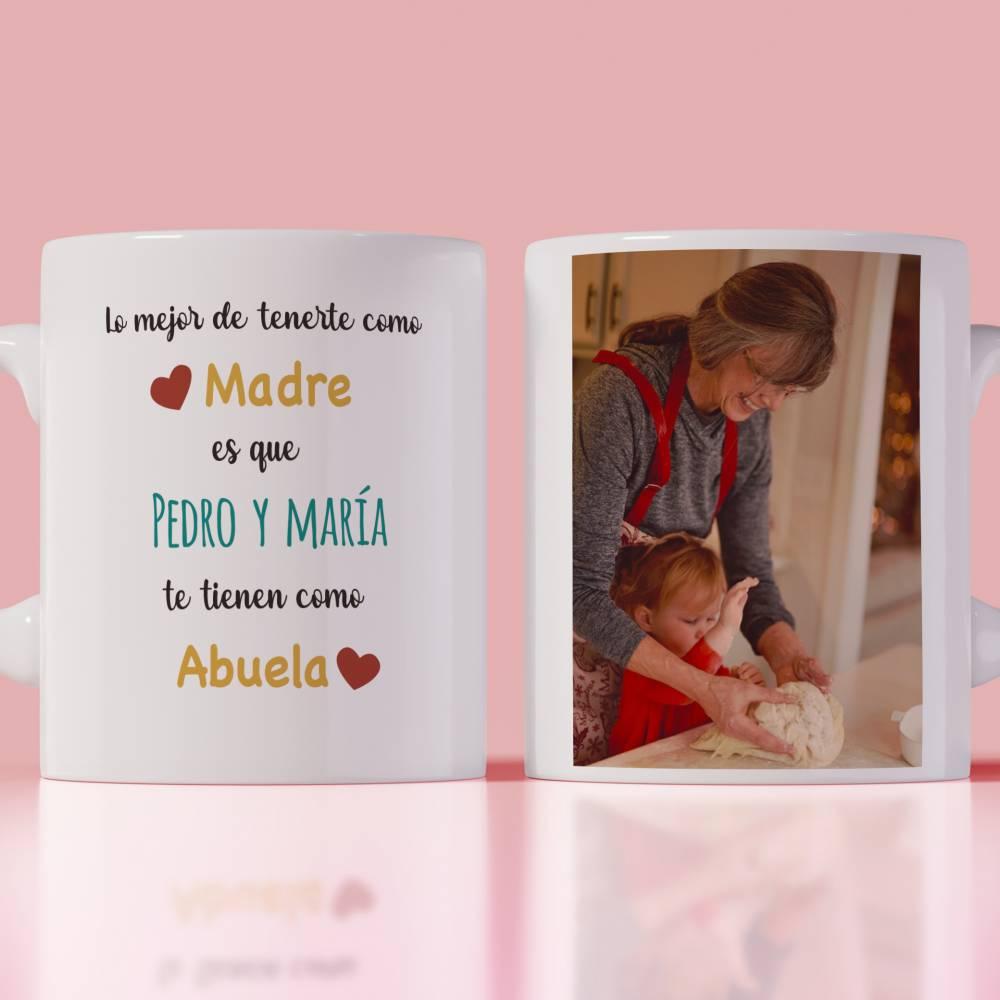 Taza Día De la Madre Personalizada Foto Nombres Abuela - Personalizables