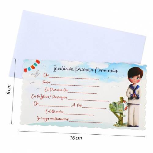 10 Invitaciones de Comunión Originales Niño Incluye Sobres - Invitaciones De Comunión