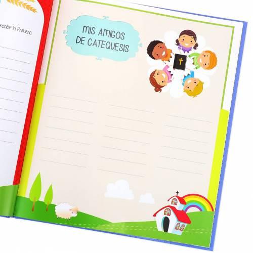 Libro Firmas y Recuerdos Comunión Original Niña - Libros Comunión Firmas y Huellas
