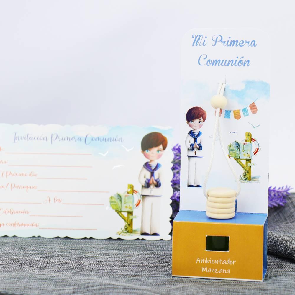 Ambientador Coche Manzana Detalles Comunión Niño - Detalles de comunión originales