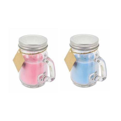 Detalle para boda vela en jarra de cristal con tapa - Detalles De Boda