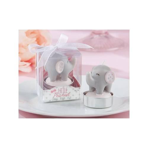 Detalle de vela de elefante para bautizo niña - Detalles para bautizo