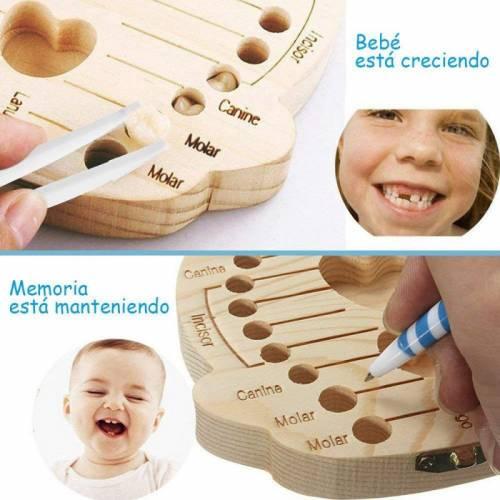 Caja de madera para guardar dientes de leche en forma de detalle - Detalles para bautizo