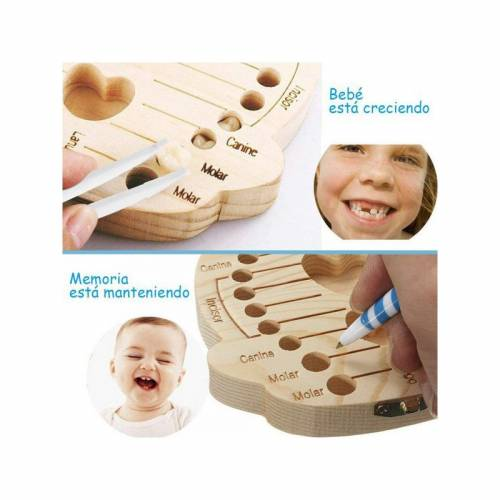 Caja de madera para dientes de leche - Detalles para bautizo
